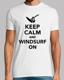 mantener la calma y windsurf en
