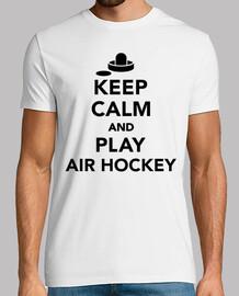 mantenere la calma e giocare air hockey