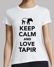 mantenere la calma e l'amore tapiro