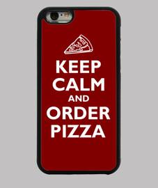 mantenere la calma e l'ordine della pizza