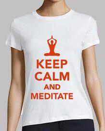 mantenere la calma e meditare