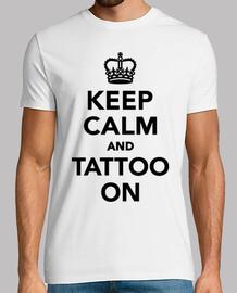 mantenere la calma e tatuaggio sulla