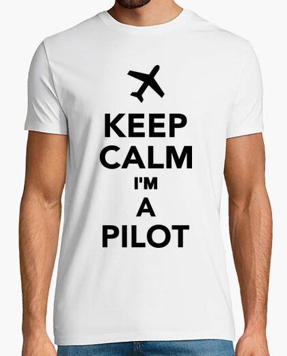 T-shirt mantenere la calma im un pilota