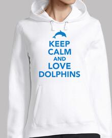 mantieni la calma e ama i delfini