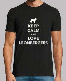 mantieni la calma e ama i leonberger