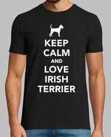 mantieni la calma e ama i terrier irlan