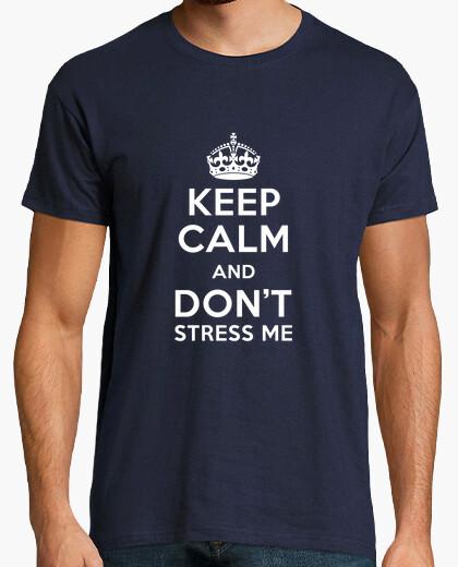 T-shirt mantieni la calma e che mi sottolineano