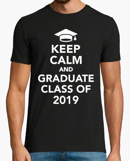 T-shirt mantieni la calma e lauree del 2019