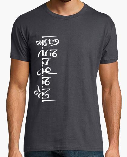 Camiseta Mantra Om Mani Blanco