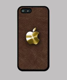 Manzana dorada y cuero