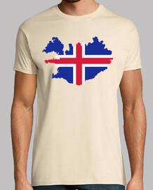 mapa de la bandera de islandia