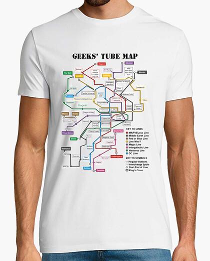 Camiseta Mapa de metro friki