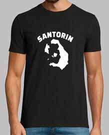 mapa de santorin