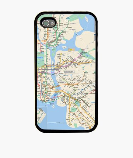 Funda iPhone Mapa del Metro de Nueva York