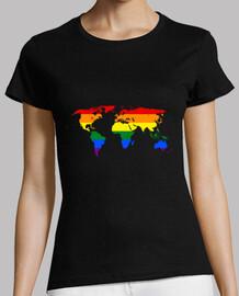 Mapa mundo bandera gay