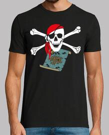 Mapa Pirata Calavera Tibias