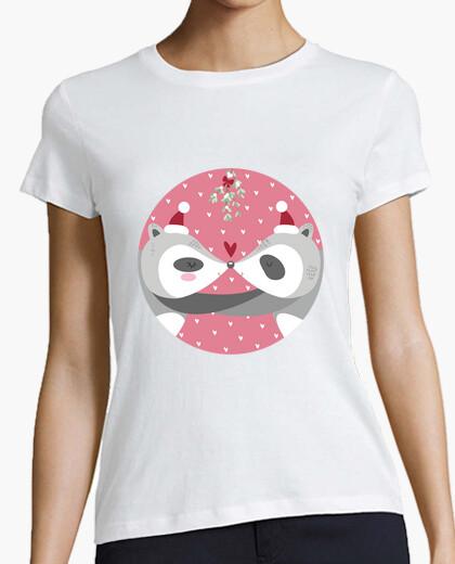 Camiseta mapache navidad