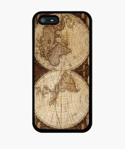 Cover iPhone mappa del mondo antico