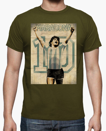Camiseta Maradona Retro futbol TV