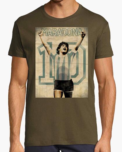 Camiseta Maradona Retro futbol TV