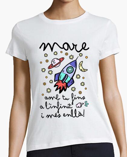 T-shirt mare amb your fins to linfinit i més enllà! (cat)