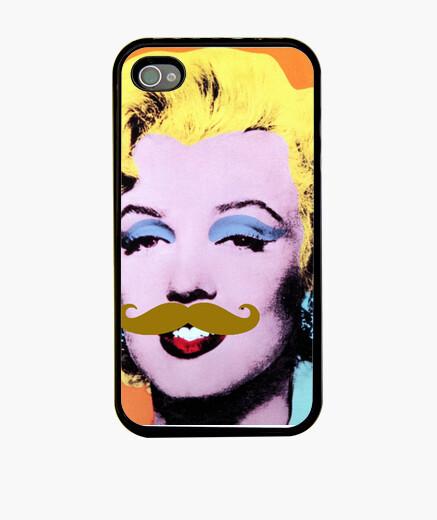 Funda iPhone Marilyn mostache