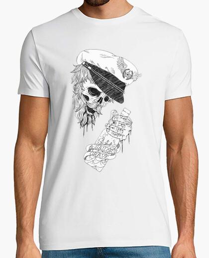 Camiseta marine calavera