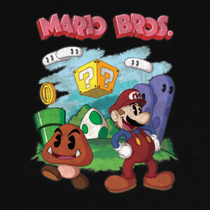 Camisetas Mario Bros. (old cartoon style)