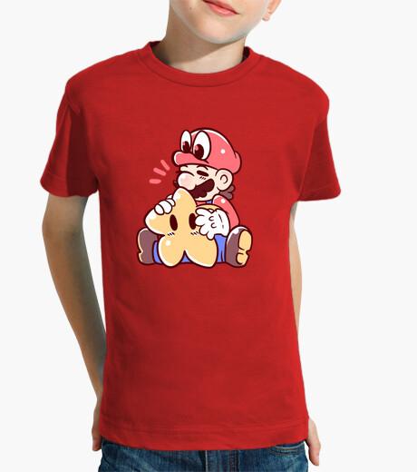 Vêtements enfant mario et cappy avec star - chemise pour enfants
