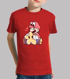 mario et cappy avec star - chemise pour enfants