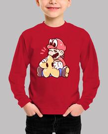 mario y cappy con estrella - camisa de niños