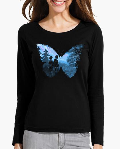 Camiseta mariposa azul
