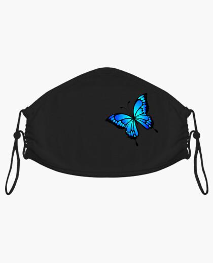Mascarilla mariposa azul