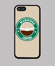 Mariposa Coffee Funda iPhone 5 / 5s, negra