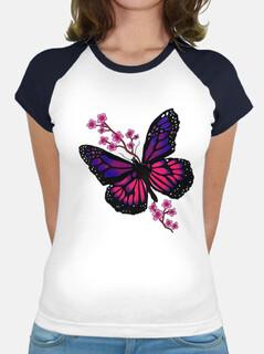 mariposa con flor
