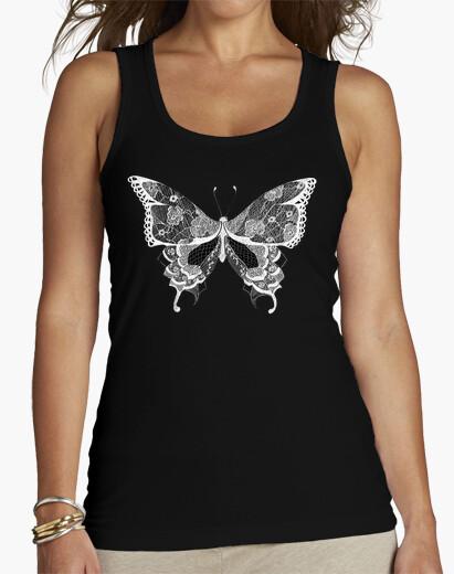 Camiseta Mariposa de encaje blanco