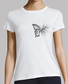 Mariposa negra camiseta mujer
