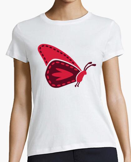 Camiseta mariposa roja
