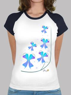 Mariposas a volar, camiseta estilo béisbol