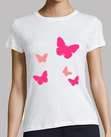 mariposas rosas