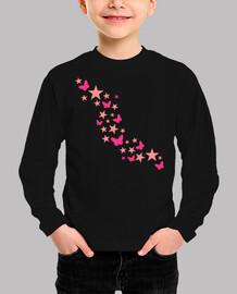 mariposas rosas estrellas