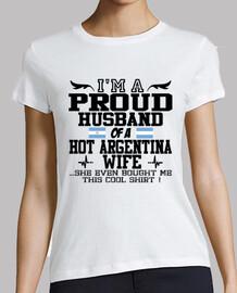 Marito orgoglioso di una moglie calda e argentina