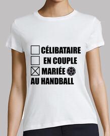 married to handball, hand
