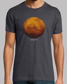 mars dans des triangles mens t-shirt