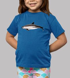 marsouin (phocoena sinus) chemise enfants