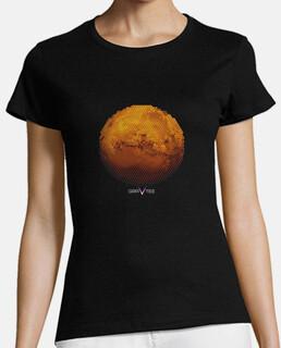 marte en triángulos camiseta para mujer