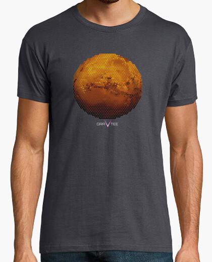 Marte en triángulos para hombre de la camiseta