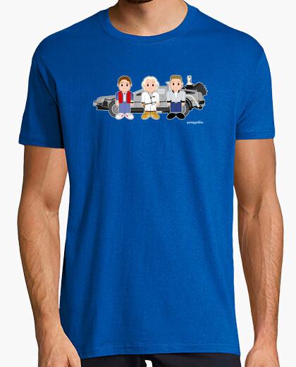 Camiseta Marty, Doc, Biff y la máquina del tiempo