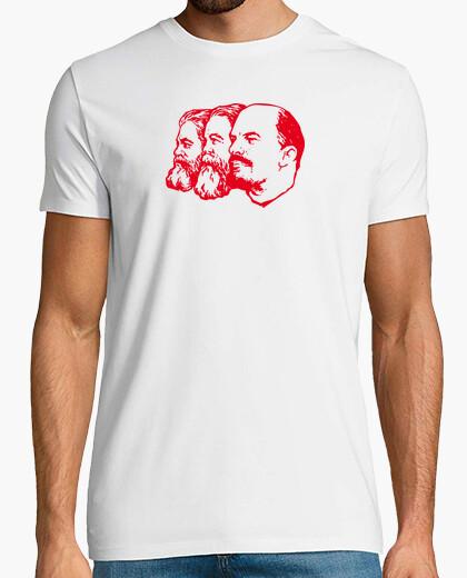 Tee-shirt Marx engels lénine  T-shirt  rouge