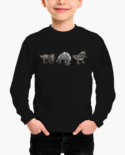 Ropa infantil más los niños de dinosaurios camiseta